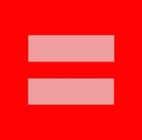 Red equal sign representing gay & lesbian family law in Dallas, TX.